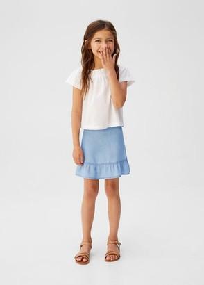 MANGO Soft denim skirt