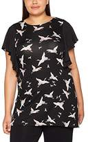 Evans Women's Fine China Bird Tunic Blouse