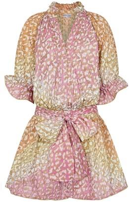 Juliet Dunn Leopard-print cotton minidress