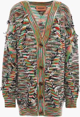 Missoni Frayed Intarsia Wool-blend Cardigan