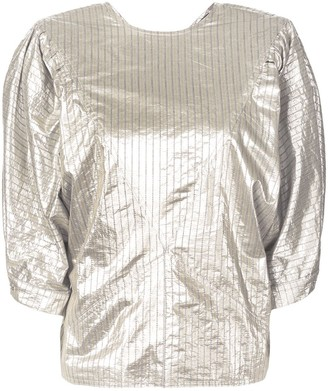 Isabel Marant Rolna metallic striped blouse