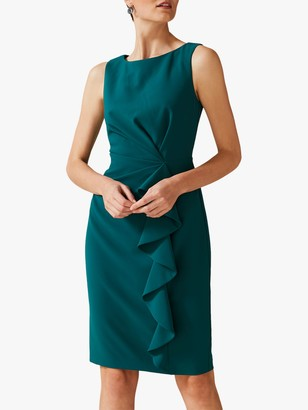 Phase Eight Gia Frill Dress, Bright Jade