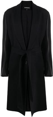 Ann Demeulemeester Contrast Belted Coat