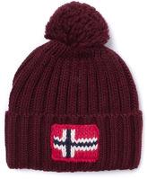 Napapijri Maroon Knitted Beanie Hat