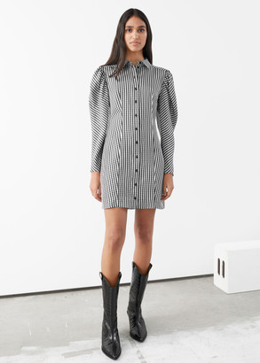 And other stories Gingham Mini Shirt Dress