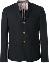 Thom Browne button blazer - men - Cupro/Wool - 2