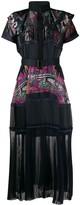Sacai x Sun Surf sheer panelled midi dress
