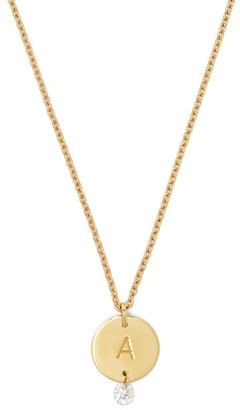 Raphaele Canot Set Free 18kt Gold & Diamond A-charm Necklace - Womens - Gold