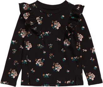 TINY TRIBE Kids' In Bloom Ruffle Sleeve Top