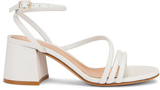 Gianvito Rossi Ankle Strap Sandals in White | FWRD