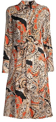 Kobi Halperin Madi Paisley Long-Sleeve Shirt Dress