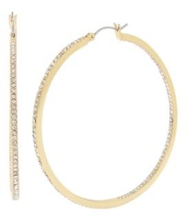 """Jessica Simpson Pave Hoop Earrings, 2.5"""""""