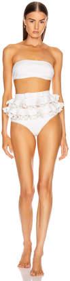 Zimmermann Super Eight Embroidered Bikini Set in Ivory | FWRD
