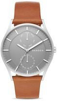 Skagen Holst Leather Strap Watch, 40mm