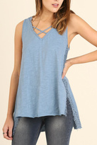 Umgee USA High Low Sleeveless Top