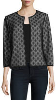 Kasper Suits Bonded Lace Flyaway Jacket