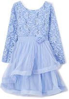 Speechless Blue Lace A-Line Dress - Girls