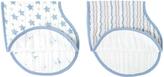 Aden Anais Blue & White Prince Charming Burpy Bib - Set of Two