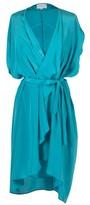 Christine Phung Blair Turquoise Silk Dress