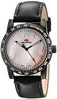 Seapro Women's SP5211 Bold Analog Display Quartz Black Watch