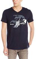 Nautica Men's Water Graphic V-Neck T-Shirt