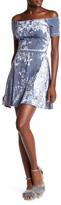 Love...Ady Off-the-Shoulder Velvet Dress