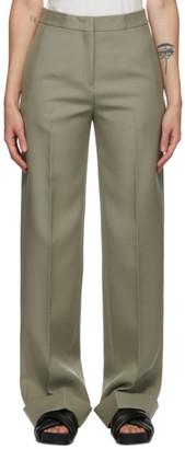 Jil Sander Green Wool Trousers