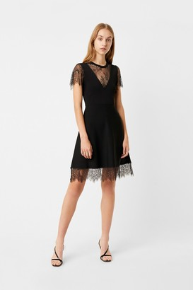 French Connection Madalyn Lula Jersey Lace Mix Dress