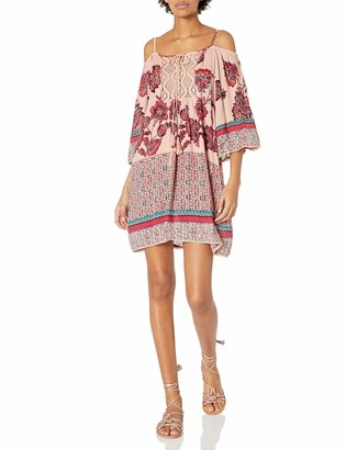 Angie Women's Cold Shoulder Printed Dress