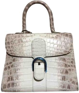 Delvaux Le Brillant Beige Crocodile Handbags