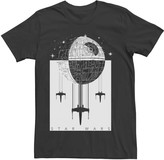 Star Wars Licensed Character Men's Ornate Death Star Poster Tee