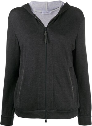 Brunello Cucinelli Zipped Long-Sleeved Hoodie