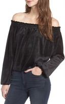 De Lacy Women's Delacy Off The Shoulder Velvet Top