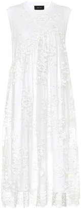 Simone Rocha Sequined cotton-jersey and tulle dress