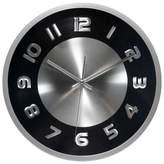 "Infinity Instruments Titanium 11.5"" Wall Clock Black"