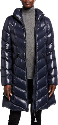 Moncler Marus Quilted Chevron Down Jacket
