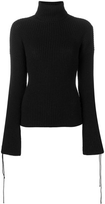 2000's Lace-Up Sleeves Jumper