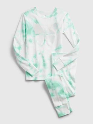 Gap Kids Butterfly Tie-Dye Graphic PJ Set