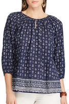 Chaps Petite Relaxed-Fit Cotton Top
