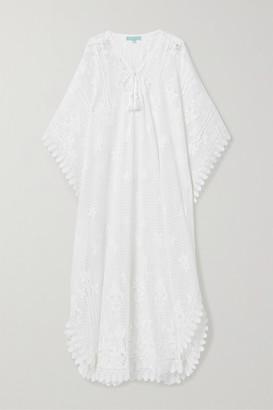 Melissa Odabash Nicki Cotton-blend Lace Kaftan - White