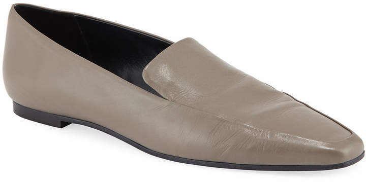 The Row Minimal Leather Flat Loafers