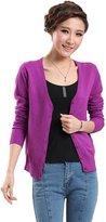 ITOPAI Fashionable Bright Color Knitting Cardigan (XL, )