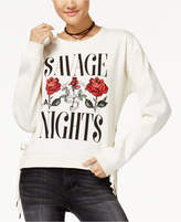 Freeze 24-7 7 7 Juniors' Savage Nights Lace-Up Graphic Sweatshirt