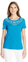 Sag Harbor Women's Beaded Slub T-Shirt