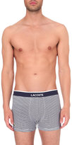 Lacoste Stripe-print Pack Of Two Stretch-cotton Trunks