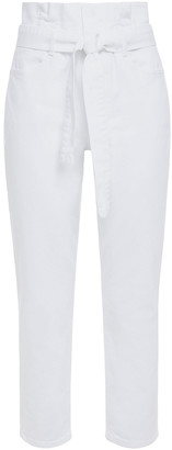 Frame Belted High-rise Straight-leg Jeans