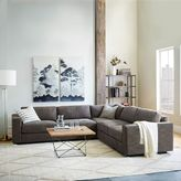 west elm Urban 3-Piece Sectional, Charcoal (Heathered Tweed)