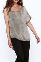 Free People Grey Faded Top