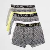 River Island Boys lime geo print trunks multipack
