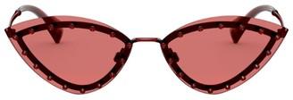 Valentino Crystal-Embellished Cat Eye Sunglasses